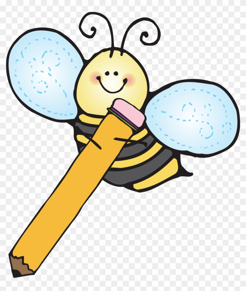 Bees Clipart Kindergarten - Kids Writing Clipart #65595
