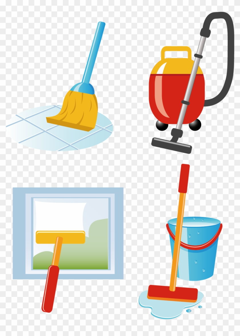Cleaning Vacuum Cleaner Laundry Clip Art - Cleaning Vector #65620