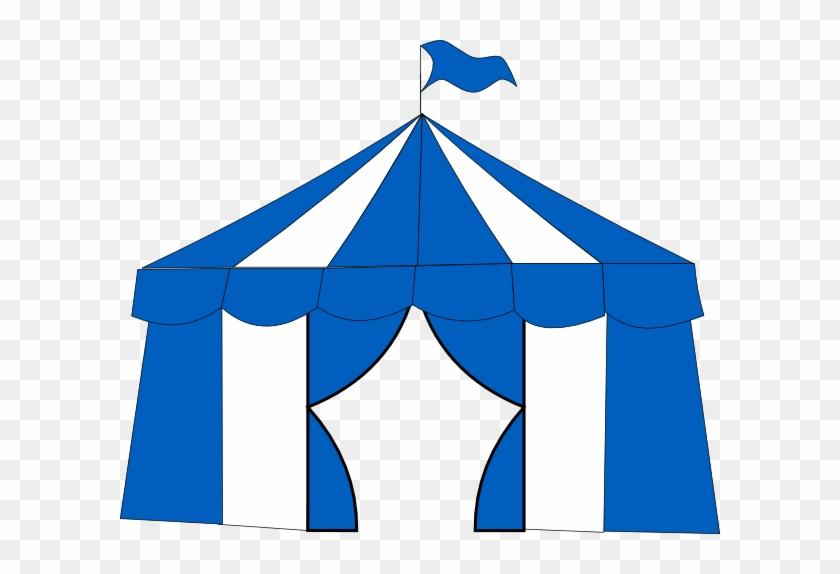 Blue Circus Tent 2 Clip Art - Carnival Tent Clip Art Icon #65656