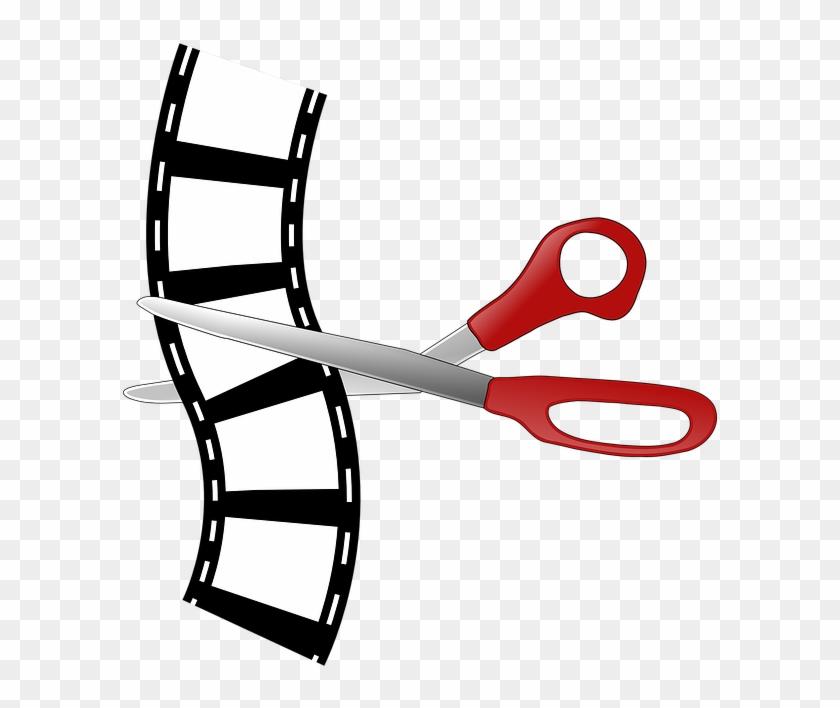 Cutting Editing Filmstrip Film Strip Film Movie - Movie Editing Clip Art #65686
