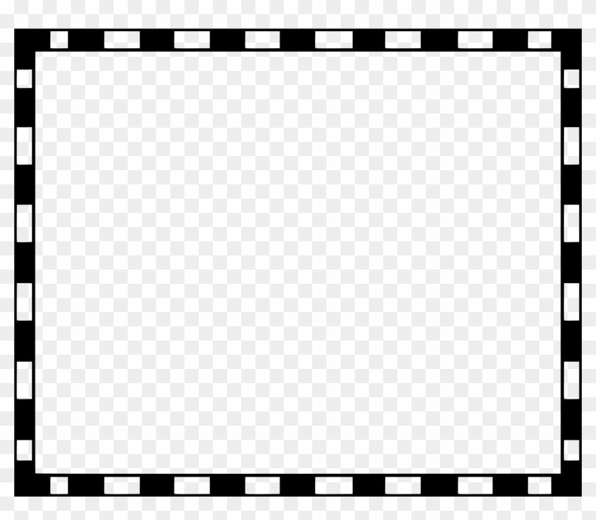 Border Clip Art - Black And White Border Frame #65729