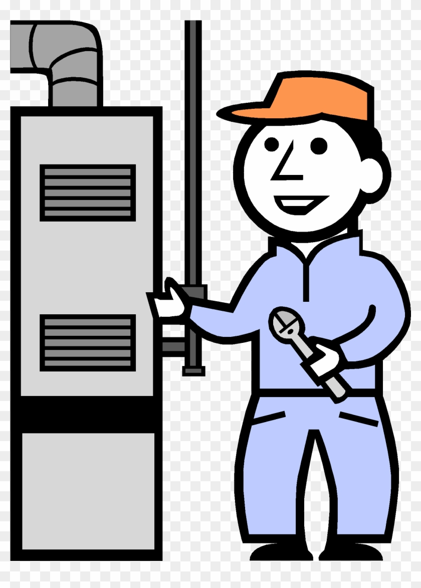 Cleaning Furnace Clip Art - Hvac Technician Clipart #65804