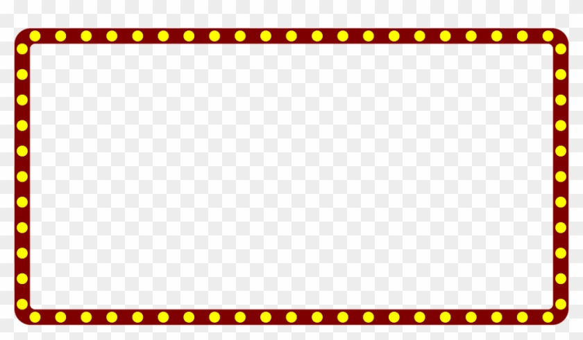 Marquee Theater Border Frame Theatre Movie Sign - Police Border And Frame #65844