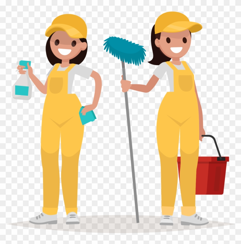 Carpet Cleaning Services - Woman Worker Vector #65845