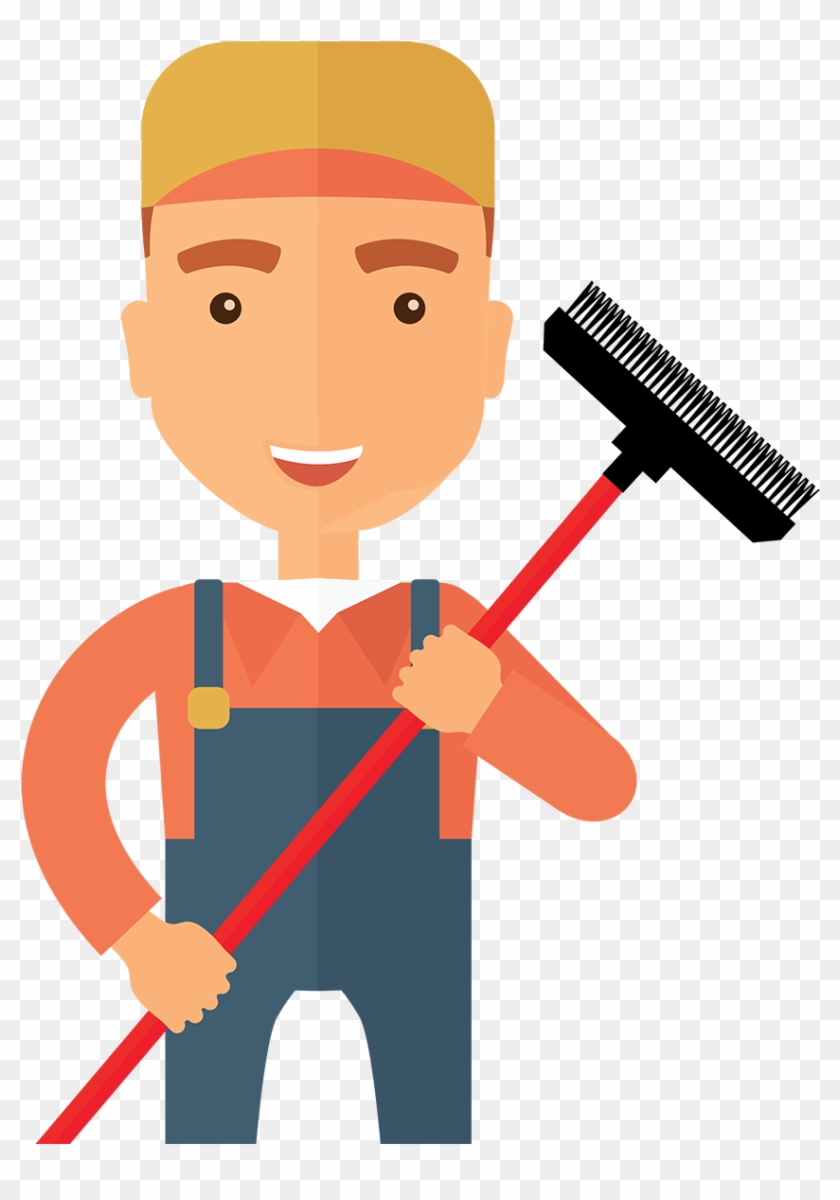 The Window Cleaner - Window Cleaner Cartoon Png #65877