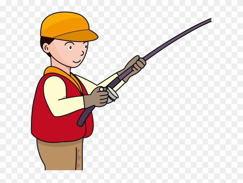 Fishing Pole Fishing Rod And Reel Clipart Kid Image - Clipart Fisherman With Rod #65881