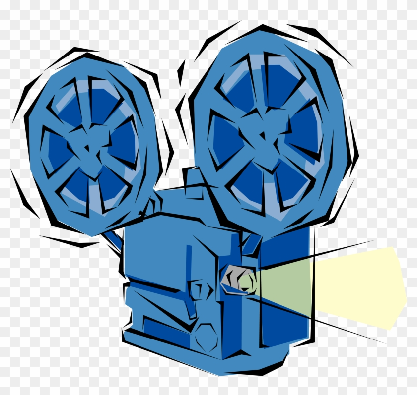Film Projector Clipart - Movie Projector Clip Art #65958