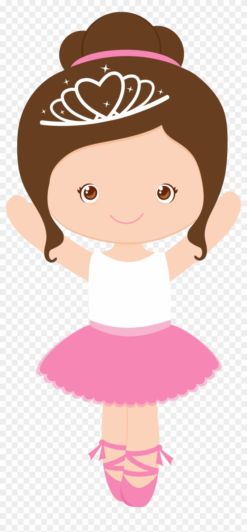 Girl Cartoon, Ballerina Party, Girl Birthday, Girls - Bailarina Princesa #66008