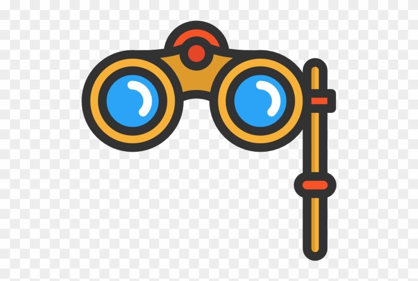Binoculars Free Icon - 望 眼镜 图片 卡通 #66052