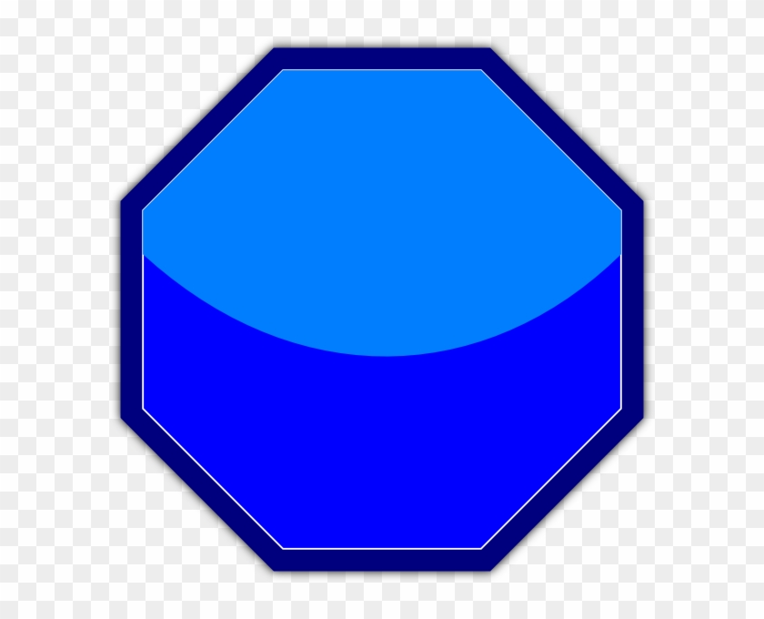 Blue Stop Sign Clip Art - Clip Art #66274