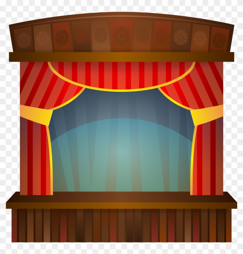 Images For Clip Art Curtains - Stage Clipart #66298