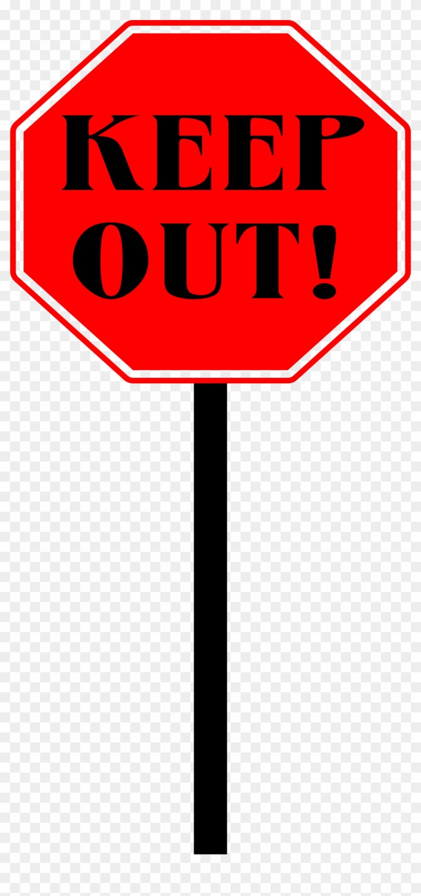 Keep Out Sign Clipart #66302