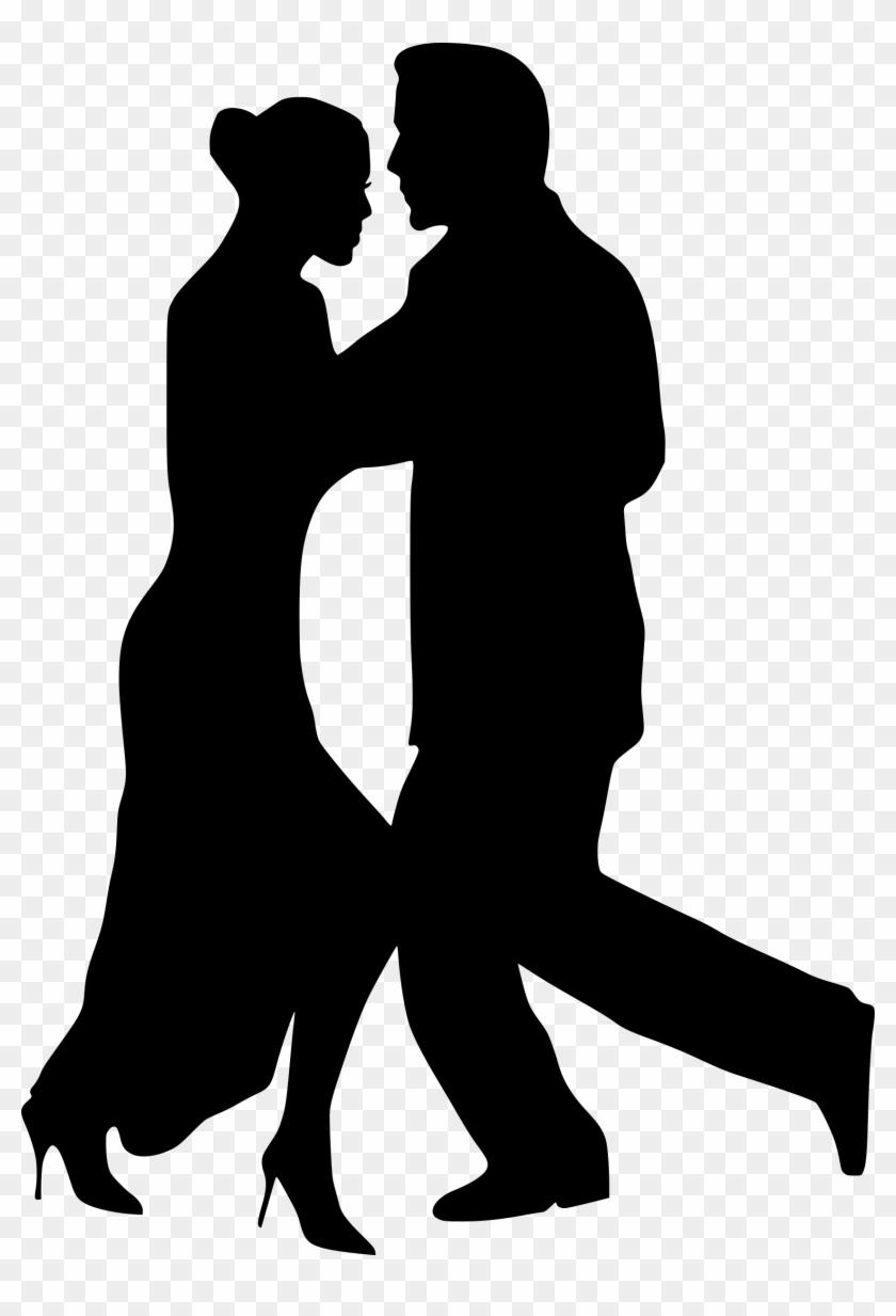 Couple Dance Dancer Dancing Performance Silhouette - Dancing Couple Silhouette Png #66340