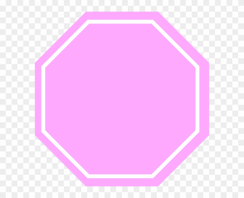 Pink Stop Sign Clip Art - Pink Stop Sign Png #66355