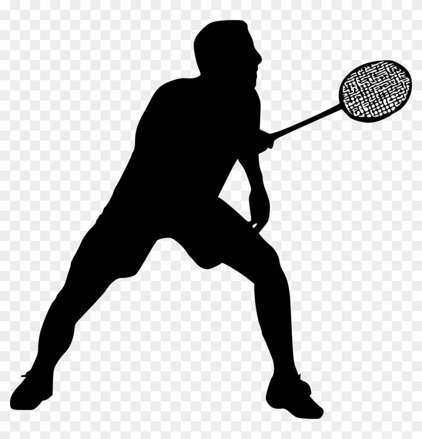 8 Badminton Silhouette - Badmintan Player Png #66426