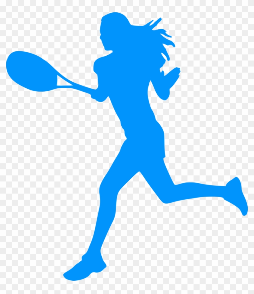 Silhouette Sports 14 Icons Png - Vinyl Wall Decal Sticker Tennis Player Size 84inx72in #66432