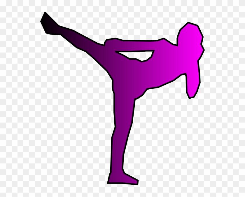 Pink Kickboxer Clip Art At Clker - Kickboxing Clip Art Free #66430