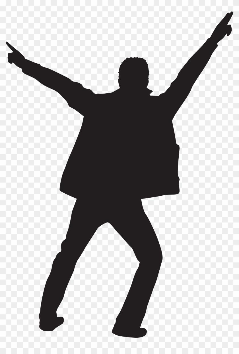Dancing Man Silhouette Clip Art Png Imageu200b Gallery - Clip Art Man Dancing #66482