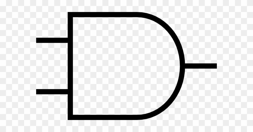 And Gate Clip Art - Logic Gate Png #66492