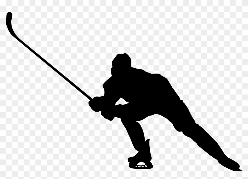 8 Hockey Player Silhouette - Silhouette Hockey Players Png #66504