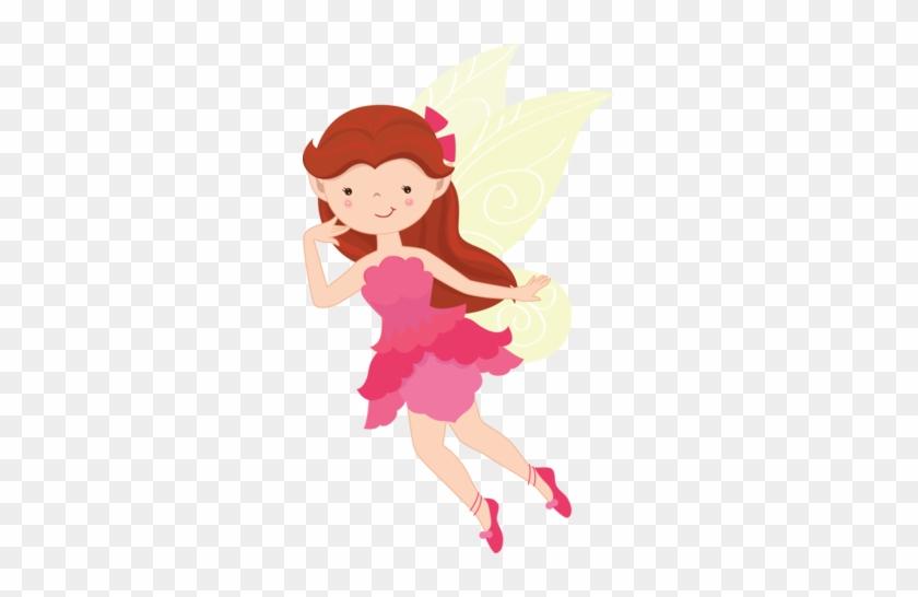Cute Fairies-cherry Clipart - Pink Fairy Clip Art #66530