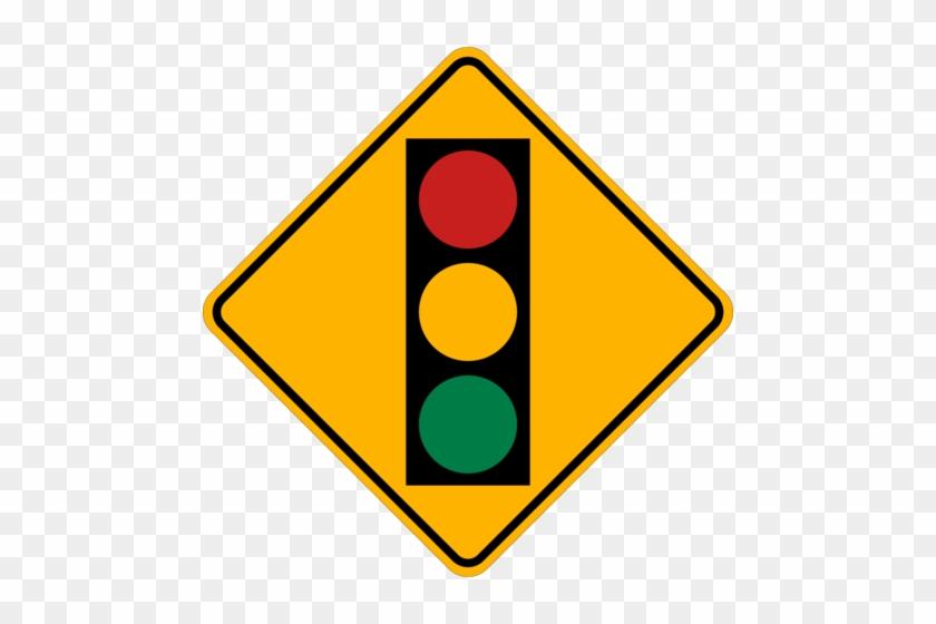 Chic Inspiration Stoplight Clipart Traffic Light Signs - Traffic Light Ahead Sign #66585