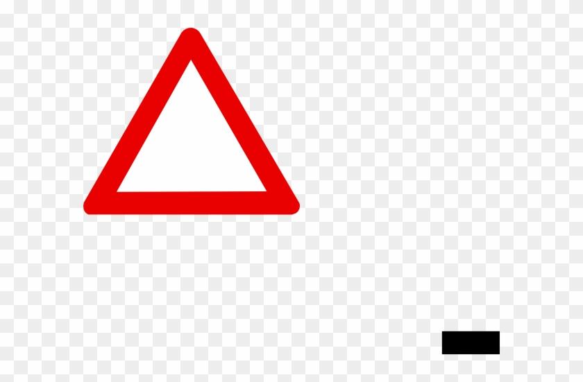 Blank Warning Road Sign #66641