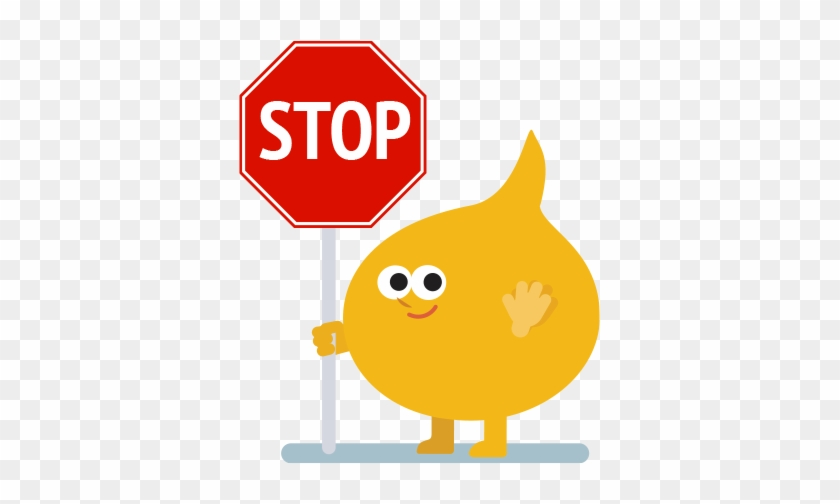 Buncee Man With A Stop Sign - Tb Dots Logo #66670