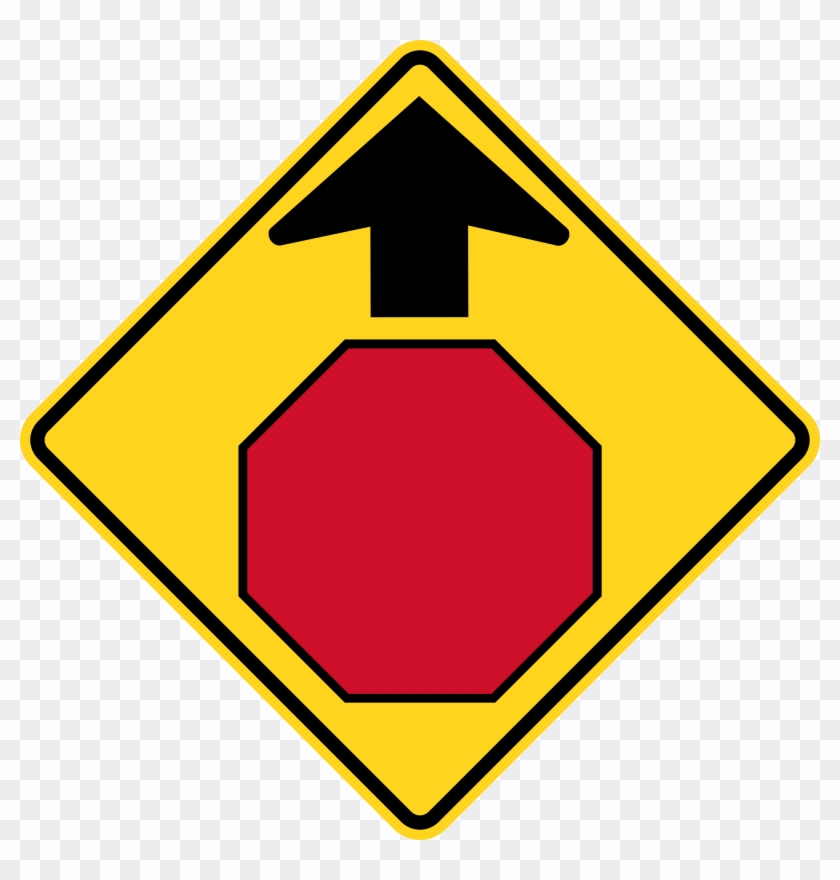 Open - Stop Sign With Arrow #66717