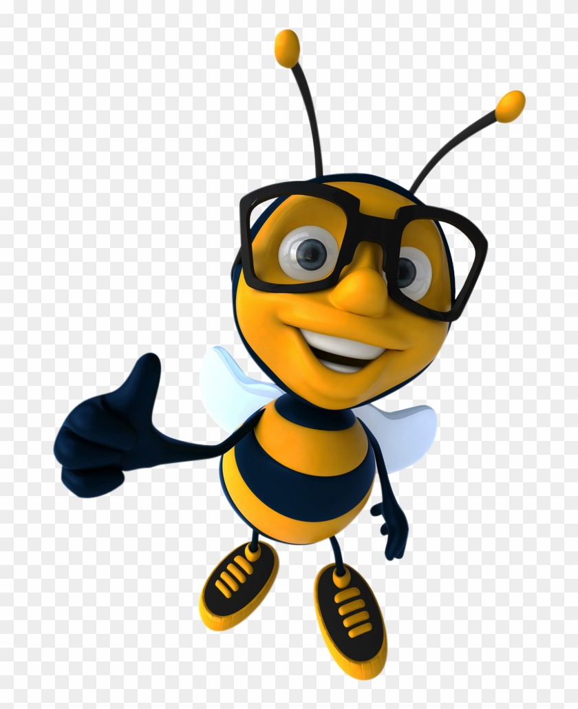 Clipart For U - Bumble Bee With Glasses #66735