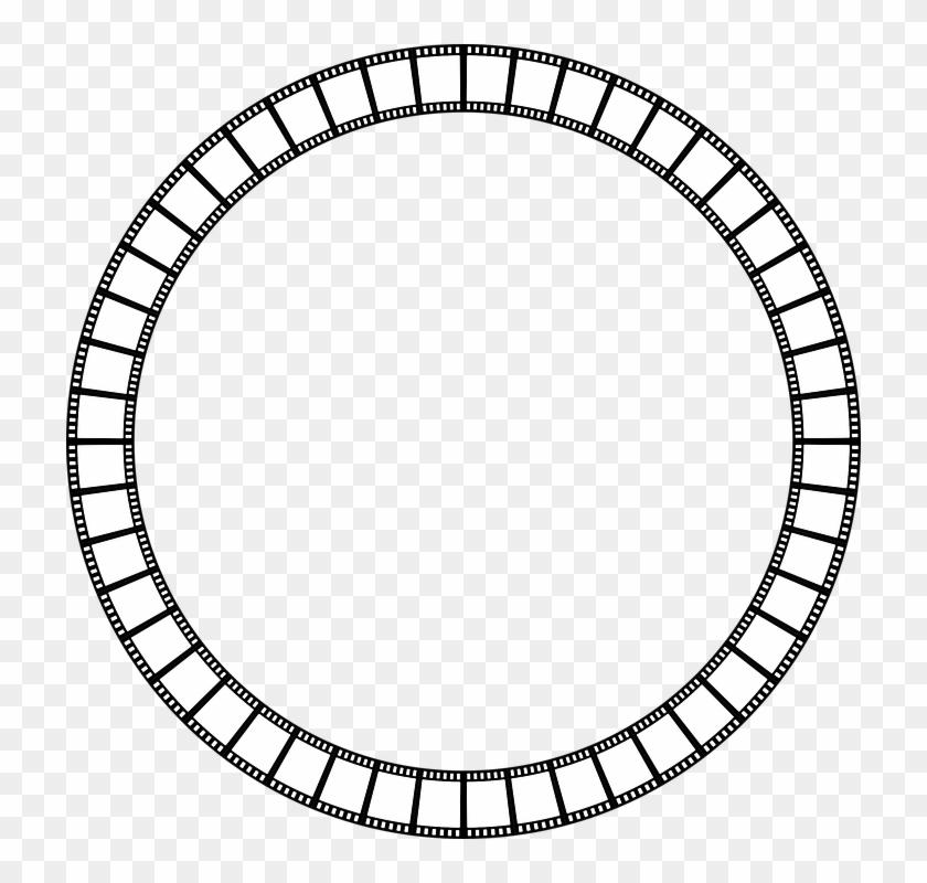 Abstract, Art, Border, Camera, Cinema - Circle Vector Png Frame #66815