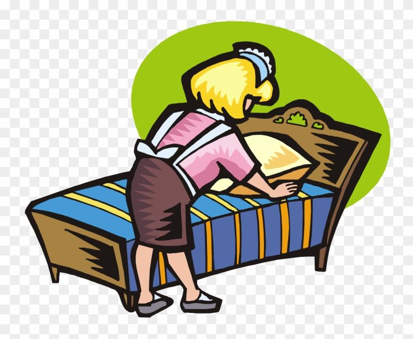 Making Movies Cliparts - Making My Bed Cartoon #66832