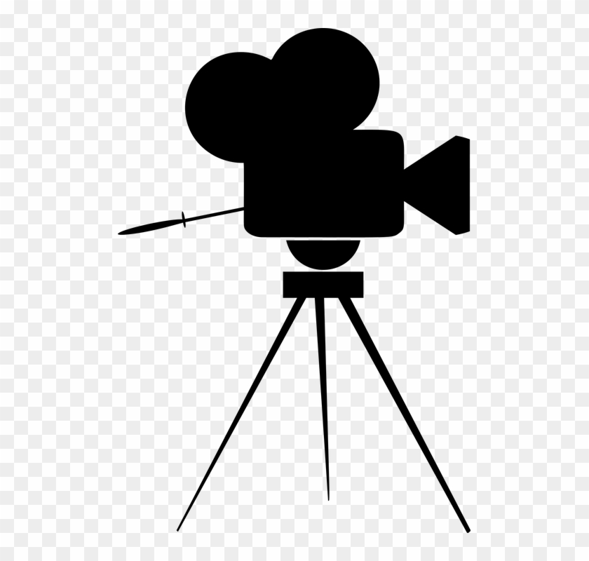 Vintage Movie Cinema Film Camera Icon Svg - Movie Camera Icon #66853