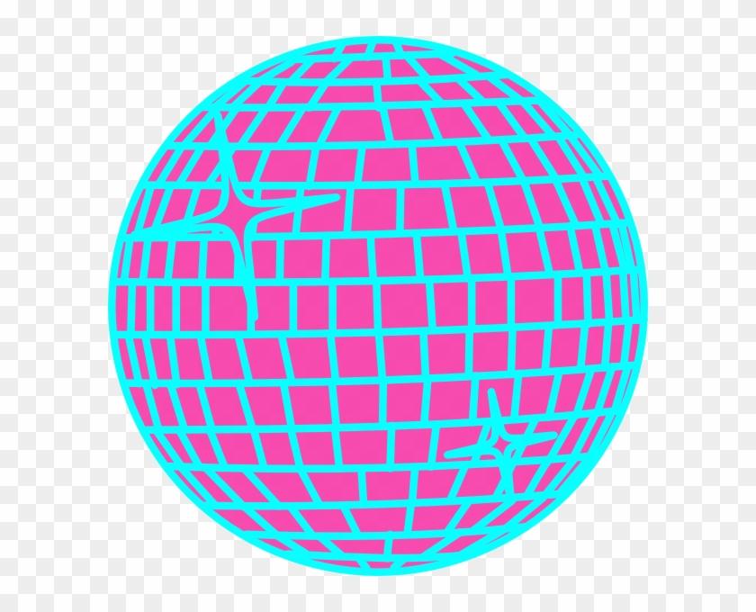 Snow Disco Ball Schmal Rand Blau Clip Art At Clker - Cafepress Disco Fever Disco Ball Sticker #66917