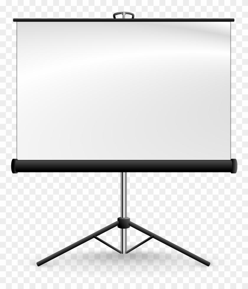 Lcd Screen Clipart, Vector Clip Art Online, Royalty - Projector Screen Png Vector #66925