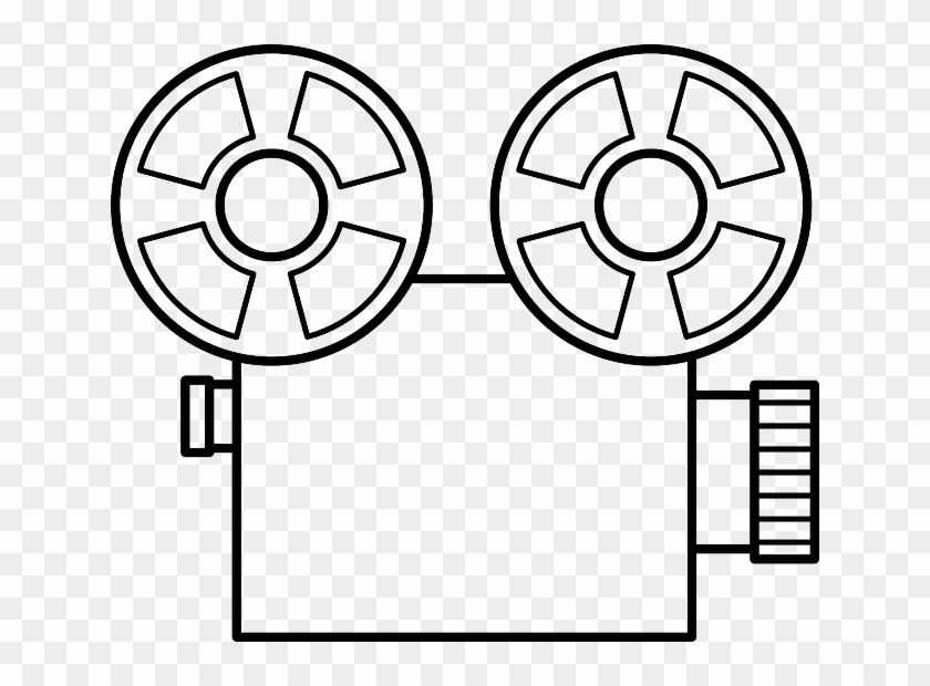Video, Outline, Silhouette, Cartoon, Camera, Movie - Old Video Camera Drawing #66999