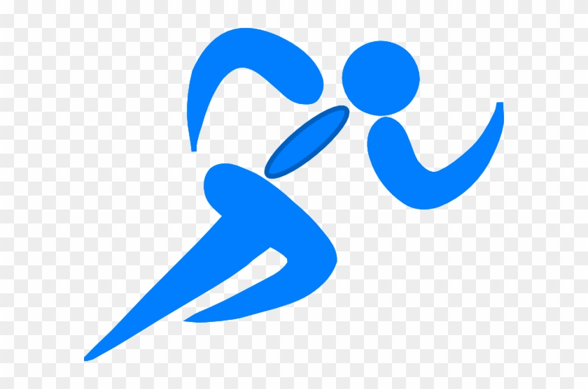 Runner Field Day Clip Art - Track And Field Clipart Blue #67013
