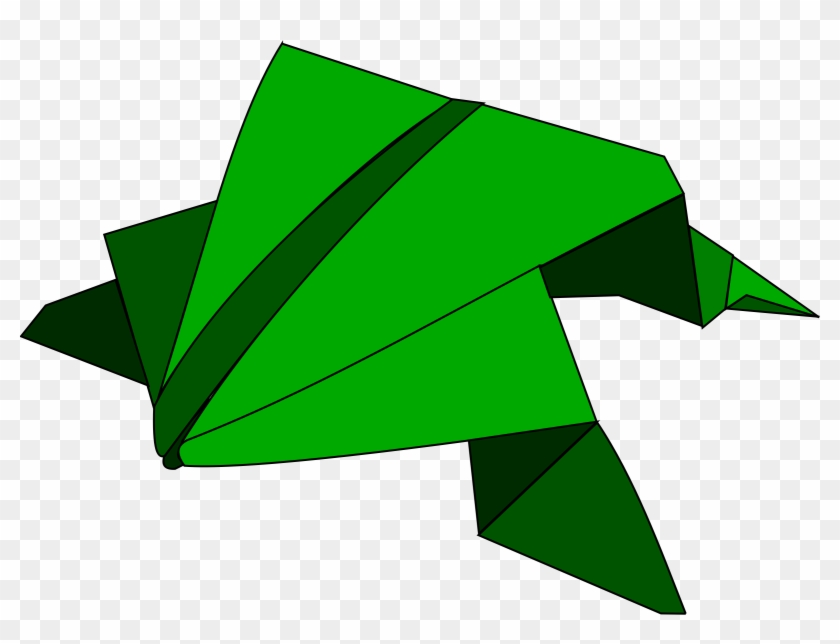 Free Clipart - Origami Frog Clipart #67106