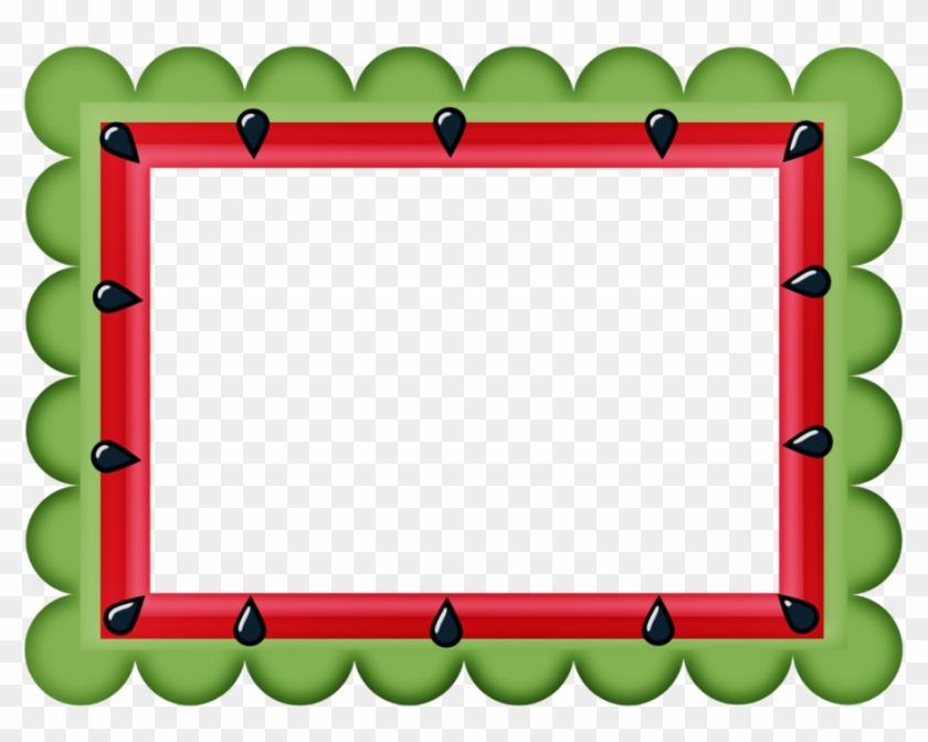Say Hello - Watermelon Border Clipart #67121