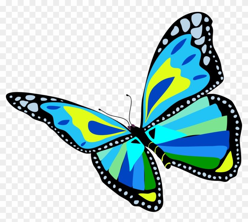 Clipart Butterfly Flying - Flying Butterfly Clip Art #67156