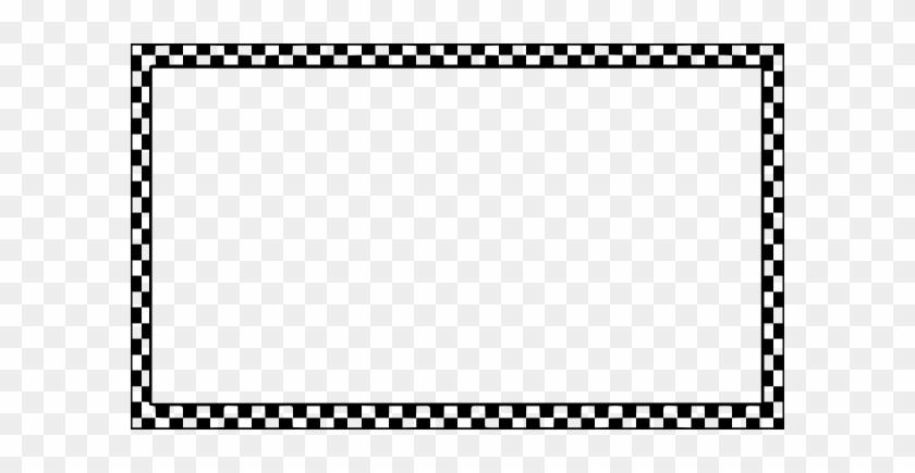 Race Track Border Clipart - Checkerboard Border Clip Art #67170