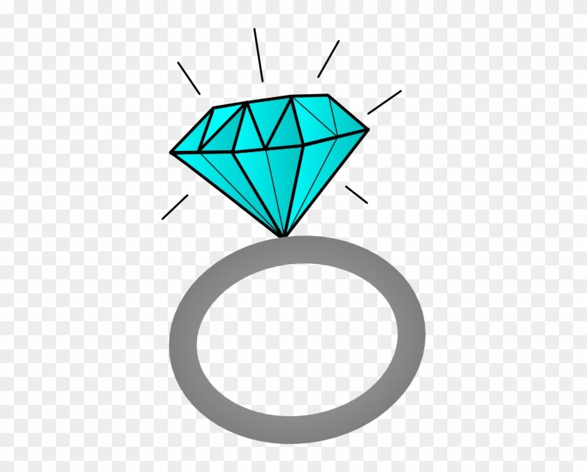 Pink Diamond Clip Art - Blue Wedding Ring Clipart #67177