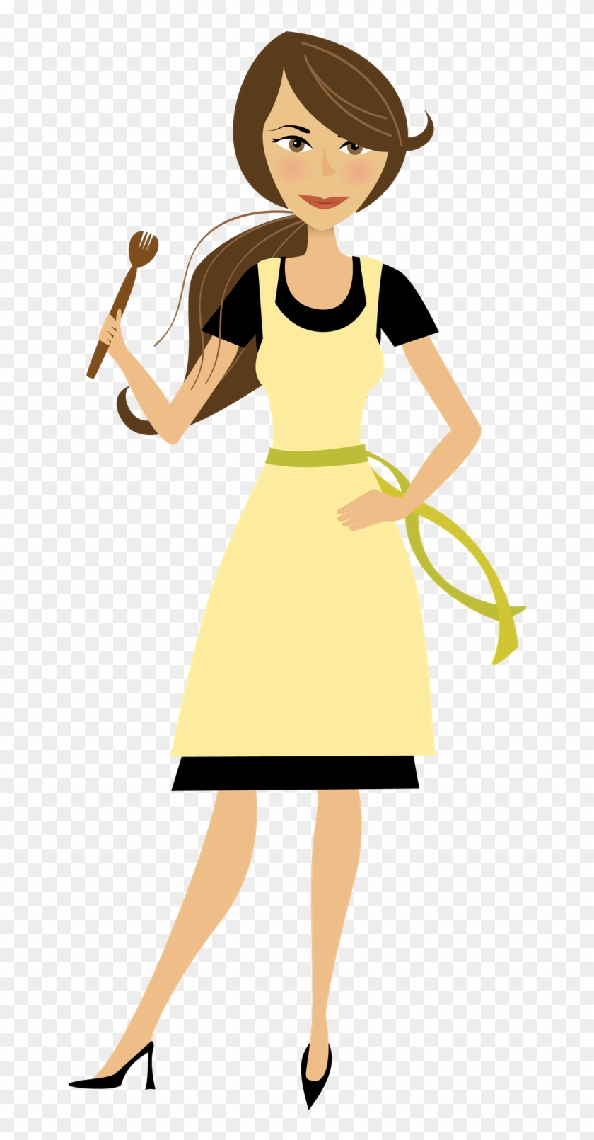 Cooking Mom Clipart - Mom Cooking Clip Art #67263