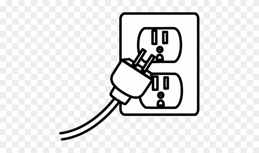 Image Of Electrical Clipart Black And White Electrical - Plug Black And White #67275