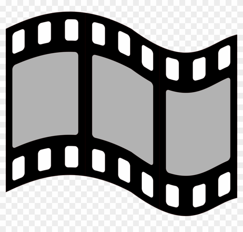 Film Movie Graphic Symbol Strip Cinema Retro - Film Frames Png #67370