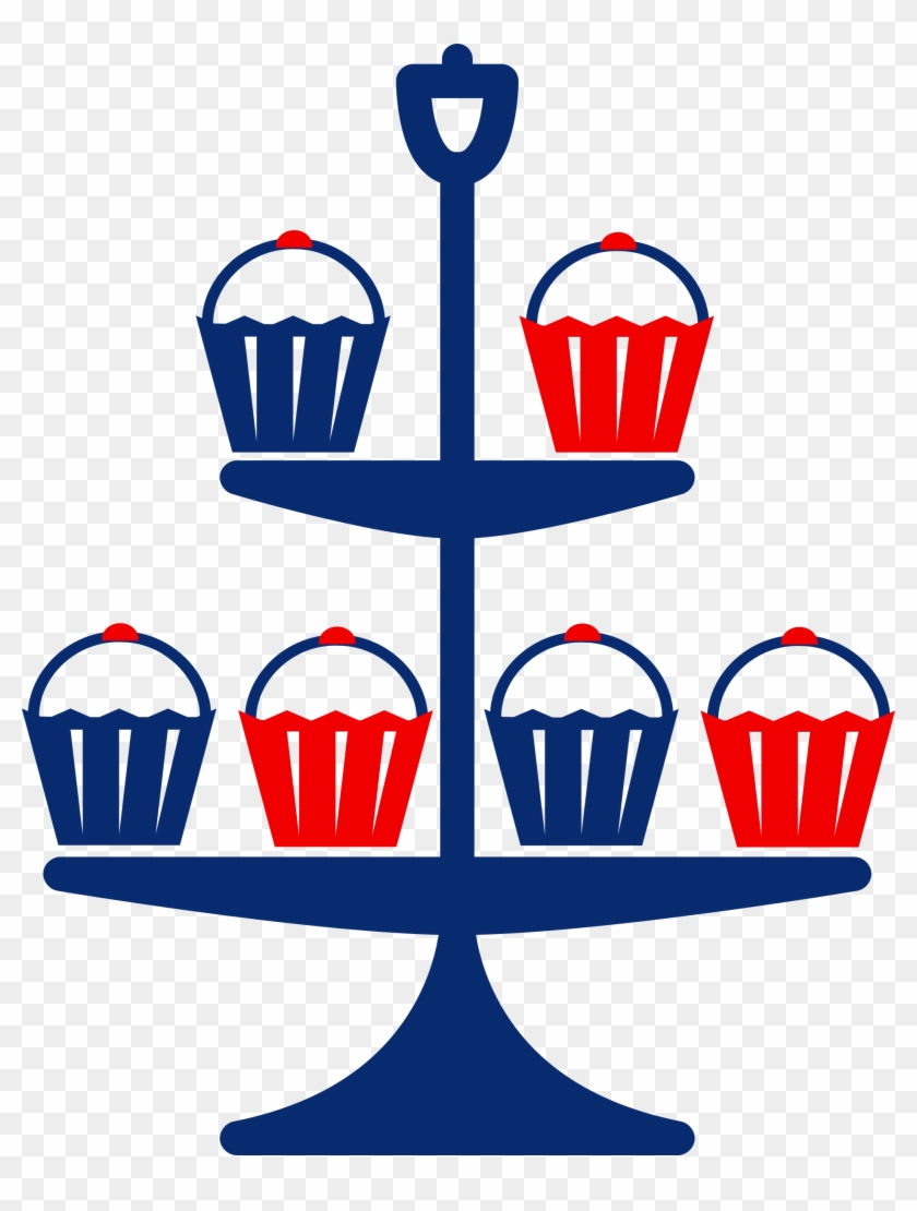Cup Cake Stand Clip Art - Free Clipart Cake Stand #67570