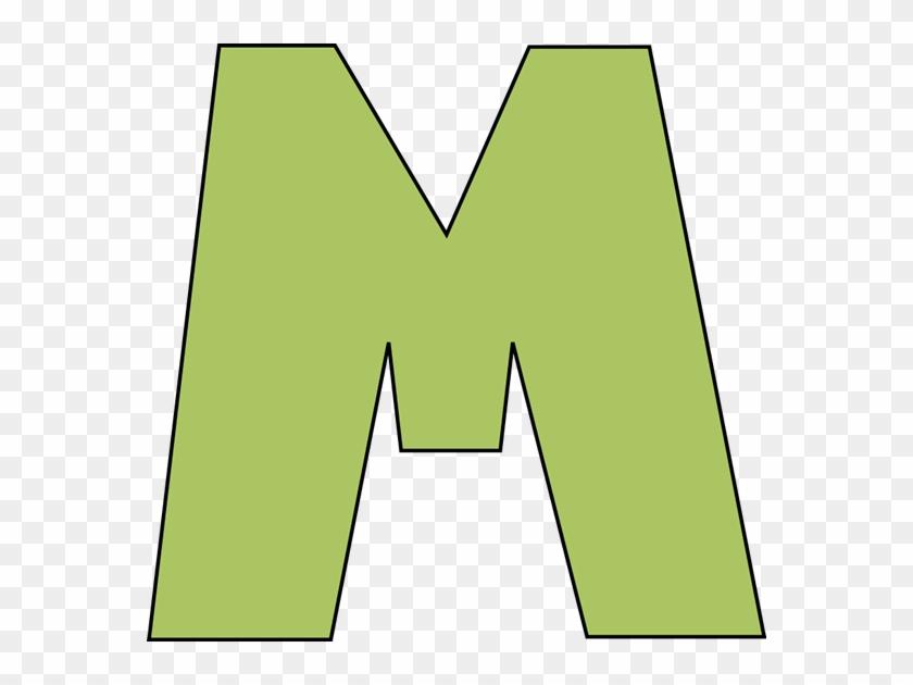 Green Letter M Clip Art Image - Green Letter M Clip Art Image #67682