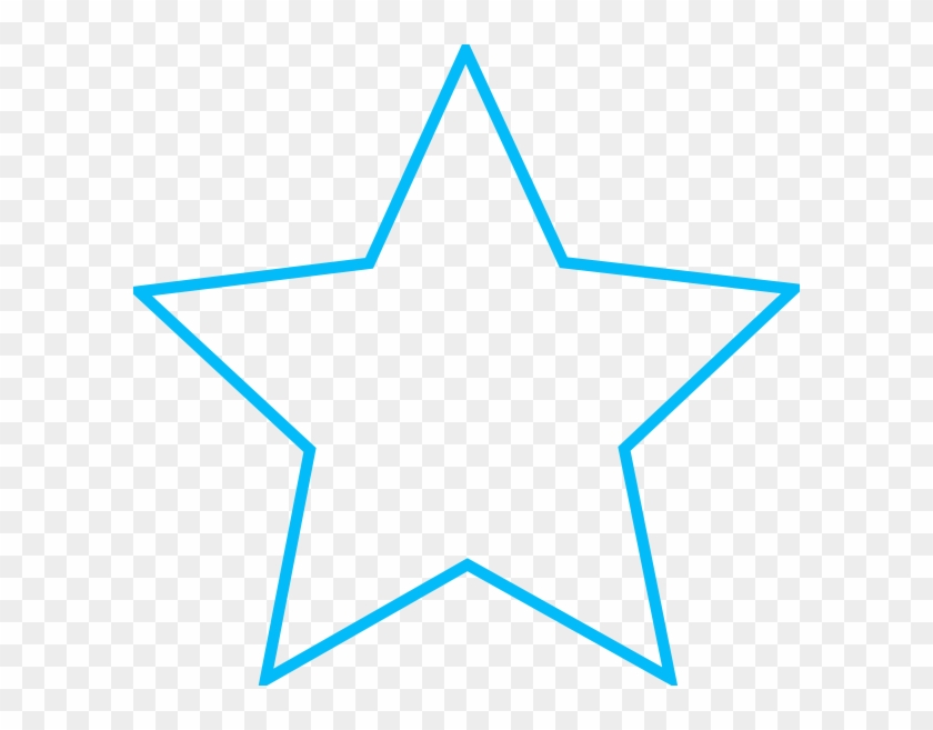 Star With Blue Outline #67781