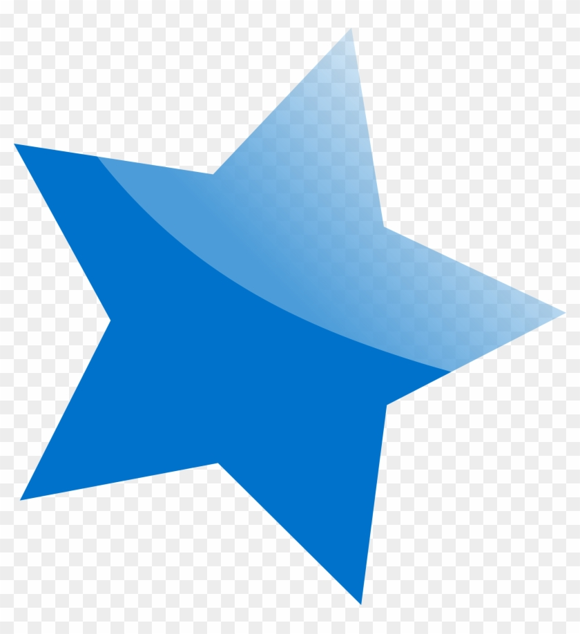Clipart Blue Star Png Image Transparent Background - Blue Star Png #67825