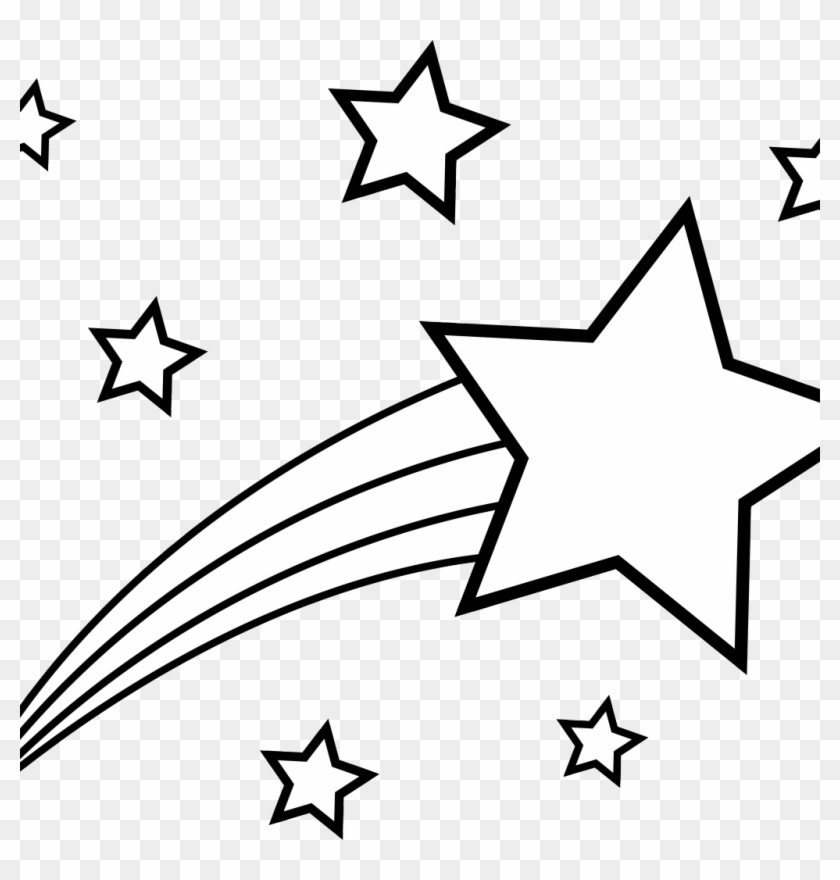 New Drawing A Shooting Star - Shooting Stars Coloring Pages #67850